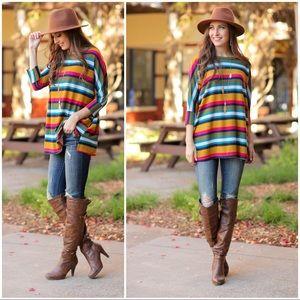 ✨RESTOCKED✨Multi Color Striped Tunic